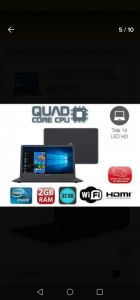 NOTEBOOK MOTION Q232AP INTEL ATOM 2GB  32GB SSD  CARTÃO SD 256GB LICENÇA ANTIVIRUS 1 ANO